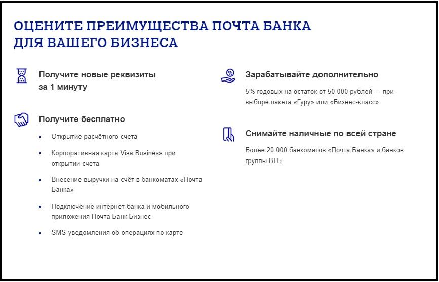 плюсы Почта Банка